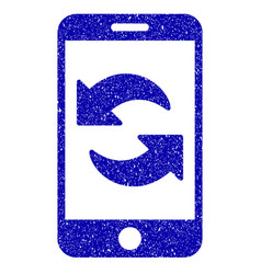 Refresh smartphone icon grunge watermark vector