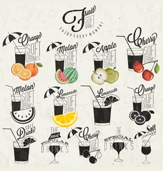 Retro vintage style Soft Drinks design vector image
