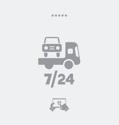 Road assistance car 724 - web icon vector