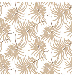 seamless tropic leaves spring pattern light sandy vector image