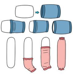 Set of put on pillowcase vector
