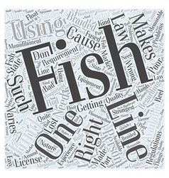 SF fishing line Word Cloud Concept vector image
