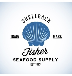 Shellback Fisher Seafood Supply Abstract vector image