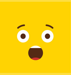shocked emoji icon design vector image