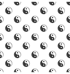 Sign yin yang pattern cartoon style vector
