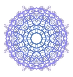 Snowflake Christmas pattern Circular ornament vector