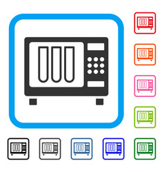 Sterilizer framed icon vector