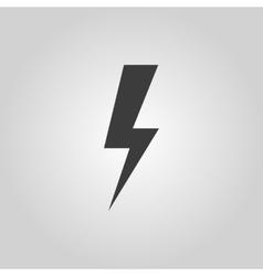 The lightning icon Power symbol Flat vector image