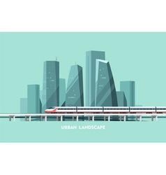 Urban Landscape Cityscape Background vector image