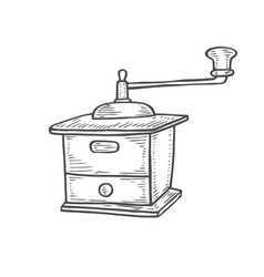 vintage manual coffee grinder vector image