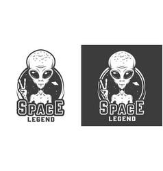 vintage space monochrome logotype vector image