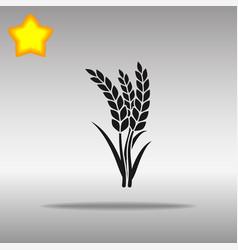 wheat black icon button logo symbol vector image
