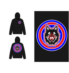 Wolf character with targeting mark vector