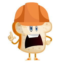 working bread on white background vector image