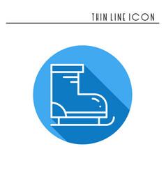 figure skates thin line icon outline sport vector image