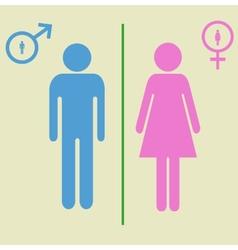 man and woman signs vector image