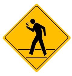 Road sign crosswalk vector image