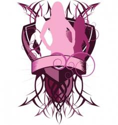 sexy shields vector image vector image