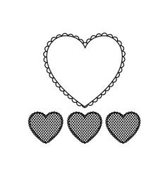 silhouette hearts design background icon vector image
