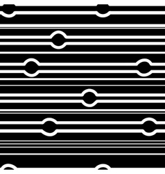 Striped and circle black seamless pattern vector image