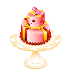 Big decorated cake vector