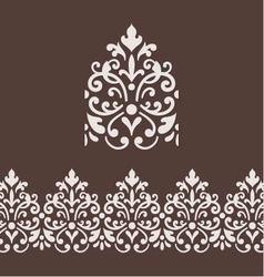 Border frame with damask ornament vector