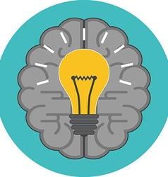 Creative idea concept Flat design Icon in vector image