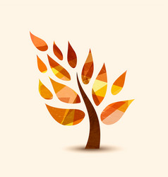 fall tree symbol concept design for nature help vector image vector image