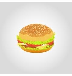 Hamburger isolated on white background vector image
