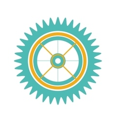 silhouette gear wheel with pinion vector image