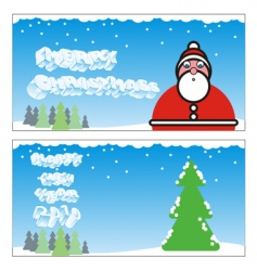 winter holiday cards vector image