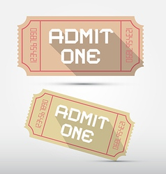 Admit One Ticket vector image vector image