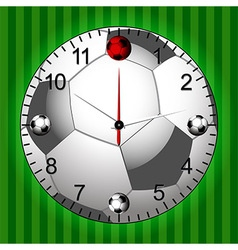 Football Soccer Clock vector image vector image