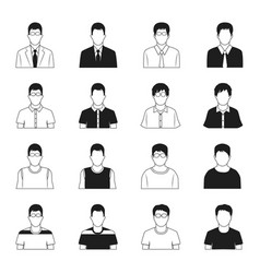 man icons set vector image