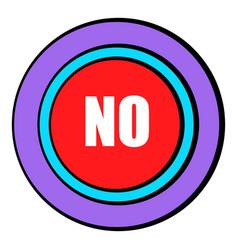 No red button icon cartoon vector