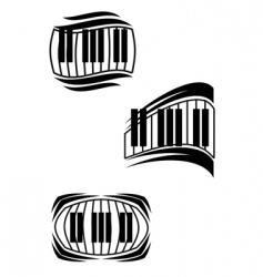 piano symbols vector image vector image
