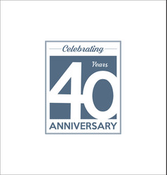 40 years anniversary modern design background vector