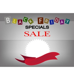 A Round Banners on Black Friday Background vector image