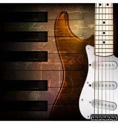abstract brown grunge music background with vector image