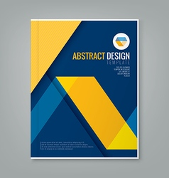 Abstract yellow line design on blue background vector