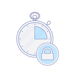 alarm clock hour lock minute time timer icon vector image