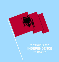Albania independence day typographic design with vector