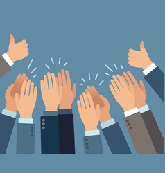 Applause hands clapping gestures vector