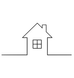 artistic drawing of simple family house silhouette vector image