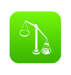 balance election icon green vector image