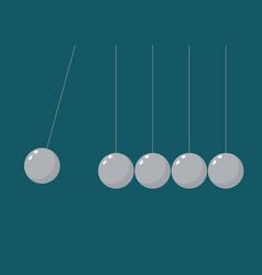 Balancing balls newtons cradle vector
