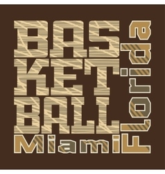 basketball design T-shirt vector image