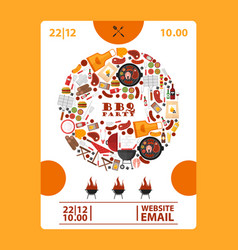 Bbq party announcement banner vector