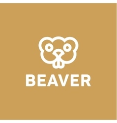 Beaver lines an outline monochrome vector image