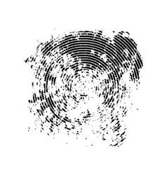 black grunge spot concentric circles vector image